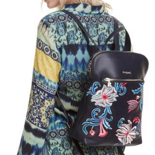 デシグアル(DESIGUAL)の新品♡定価13900円 デシグアル リュックサック ネイビー系花柄 (リュック/バックパック)