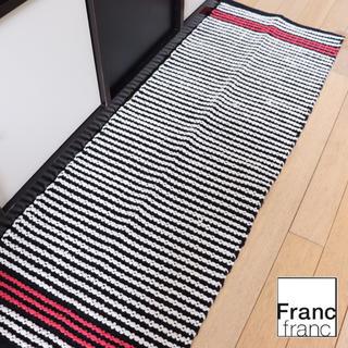 Francfranc - ❤新品タグ付き フランフラン キッチンマット【ブラック】❤