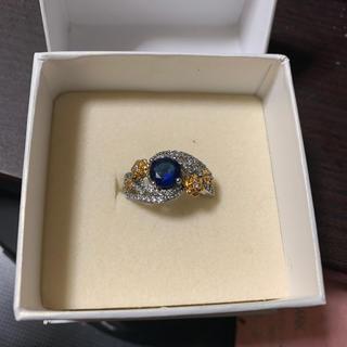 ブルーサファイアダイヤモンドリング(リング(指輪))