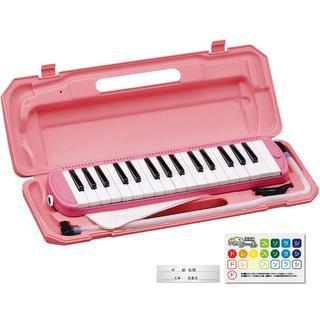 鍵盤ハーモニカ メロディピアノ ピアニカ 32鍵 ピンク