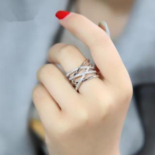赤字セール シルバー925 編みデザイン リング レディース 指輪(リング(指輪))