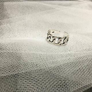 トゥデイフル(TODAYFUL)のインポート シルバー925 喜平チェーン ワイド リング いぶし銀(リング(指輪))