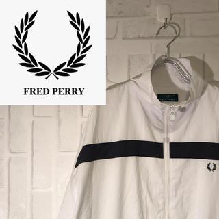 フレッドペリー(FRED PERRY)の【激レア】90s フレッドペリー ナイロンジャケット ワンポントロゴ M(ナイロンジャケット)