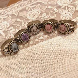 アンティークブローチモチーフネックレス(リング(指輪))