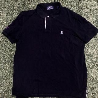 ラルフローレン(Ralph Lauren)のPsycho Bunny/サイコバニー   ポロシャツ ブラック XL (ポロシャツ)