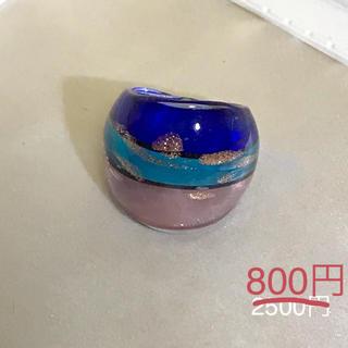 ベネチアンガラス風リング[br8](リング(指輪))