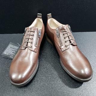 ディーゼル(DIESEL)のディーゼル(DIESEL) サイドジップ式革靴 D-LOWYY 茶 43(ドレス/ビジネス)