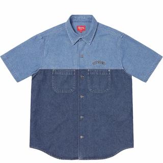 シュプリーム(Supreme)のSupreme シュプリーム 19SSデニムショートスリーブシャツ ブルー(その他)