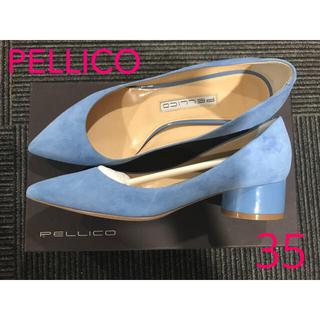 ペリーコ(PELLICO)の新品未使用♡Pellico ペリーコ パンプス スウェード チャンキーヒール35(ハイヒール/パンプス)