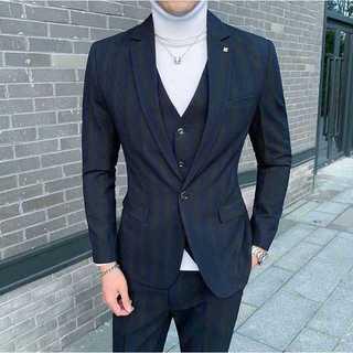 メンズスーツセットアップ大人気エリート定番ビジネス結婚式スリム紳士服 OT049(セットアップ)
