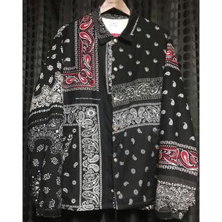 アンユーズド(UNUSED)のOLD PARK オールドパーク バンダナコーチジャケット M ブラック 極美品(ブルゾン)