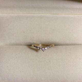 スタージュエリー(STAR JEWELRY)の美品 ゴールドリング 5号 ギャランティーカード付き(リング(指輪))
