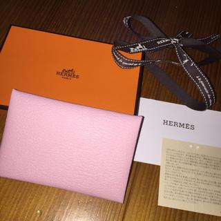 エルメス(Hermes)のエルメス HERMES  ガルヴィ  ローズサクラ ピンク カードケース 名刺 (名刺入れ/定期入れ)