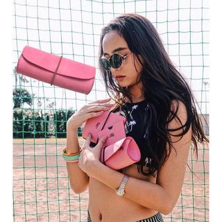 アリシアスタン(ALEXIA STAM)のAyakawasaki♡EYE WEAR CASE pink×beige(ポーチ)