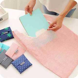 エコ バッグ ピンク ボーダー 折り畳み 便利 買物袋 コンパクト おしゃれ(エコバッグ)