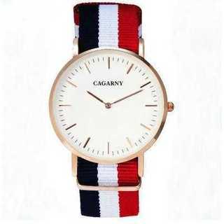 新品◆レディースウォッチ◆CAGARNY◆キャンバス素材(腕時計)