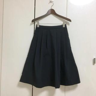 ユニクロ(UNIQLO)のユニクロ☆スカート☆ネイビー(ひざ丈スカート)