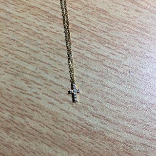 アーカー(AHKAH)のアーカー ahkahクロスパヴェネックレス ダイヤモンド0.05ct(ネックレス)