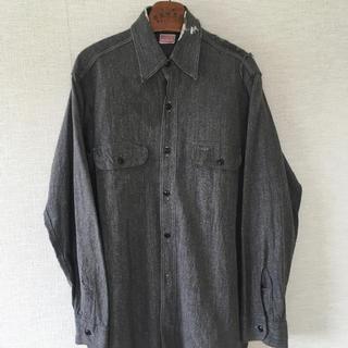 ダブルアールエル(RRL)のVINTAGEヴィンテージ50sヘラクレス黒シャンワークシャツシャンブレー(シャツ)