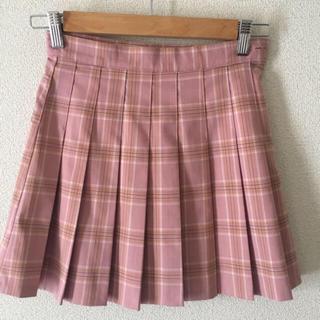 ウィゴー(WEGO)の【韓国】チェックプリーツスカート ピンク(ミニスカート)