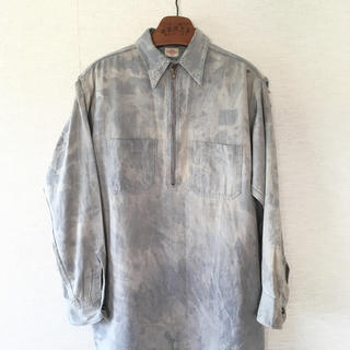 ダブルアールエル(RRL)のボロvintageビンテージ30sモンゴメリーワードワークシャツ長袖(シャツ)