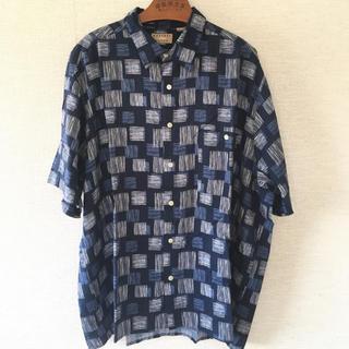 ラルフローレン(Ralph Lauren)の90sカスリ柄レーヨンシャツビッグシルエットゆるだぼ古着ビッグサイズ(シャツ)
