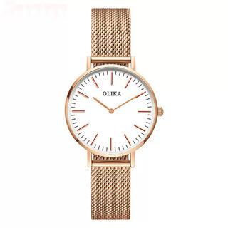 Daniel Wellington - ゴールド メッシュ 皮 ベルト 腕時計 dw風 ユニセックス