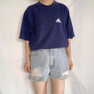 アディダス(adidas)のadidas 90s ラインロゴ刺繍TEE(Tシャツ/カットソー(半袖/袖なし))
