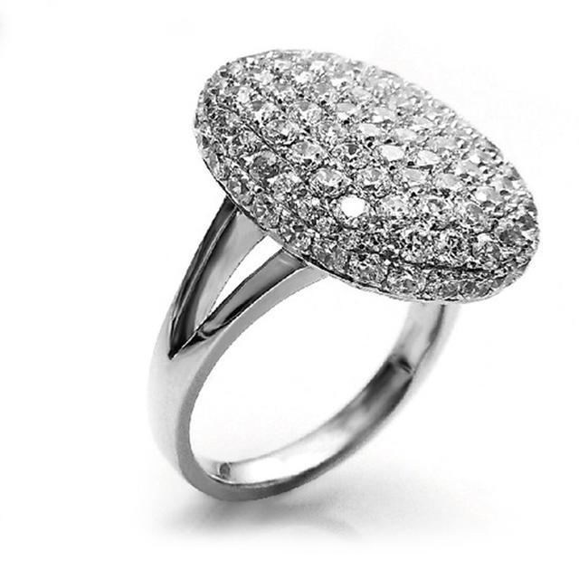 ◾️15号フルクリスタルファッションシャイニーシルバーリング レディースのアクセサリー(リング(指輪))の商品写真