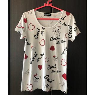 セシルマクビー(CECIL McBEE)の美品♡セシルマクビー♡セシルベア♡アイスブルー(Tシャツ(半袖/袖なし))