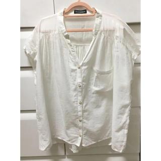 シマムラ(しまむら)の透け感が良い白ブラウス(シャツ/ブラウス(半袖/袖なし))
