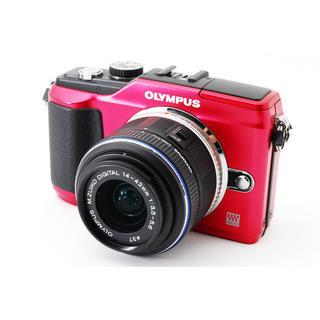 オリンパス(OLYMPUS)の★カメラ初心者にも♪WiFiカード付き★オリンパス E-PL2 レッド(ミラーレス一眼)
