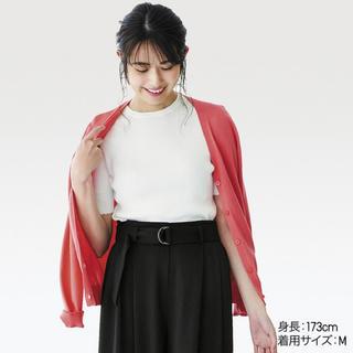 ユニクロ(UNIQLO)のUNIQLO UVカットリブクルーネックセーター(カットソー(半袖/袖なし))
