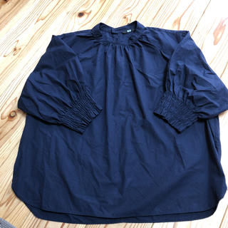 ユニクロ(UNIQLO)のユニクロ エクストラファインコットンギャザースリーブT(5分丈)(Tシャツ(長袖/七分))