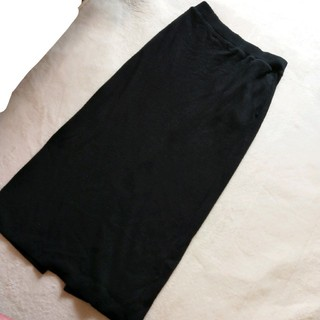 ユニクロ(UNIQLO)のリブロングタイトスカート(ロングスカート)