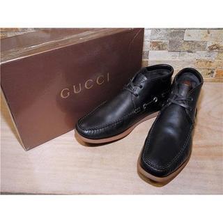 グッチ(Gucci)のGUCCI グッチ アンクルブーツ 黒 2828,5cm(ブーツ)