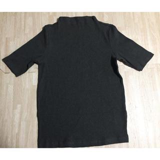 ユニクロ(UNIQLO)のUNIQLO ユニクロ リブ ネック Tシャツ カットソー Lサイズ(カットソー(半袖/袖なし))
