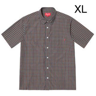 Supreme - supreme Plaid S/S Shirt teal XL
