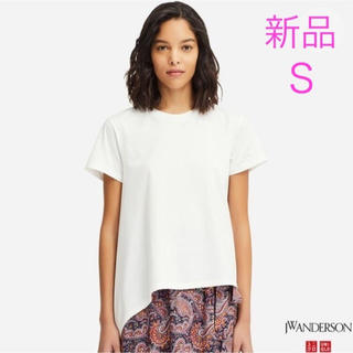 ユニクロ(UNIQLO)のUNIQLO × JW ANDERSON アシンメトリー Tシャツ 2019春夏(Tシャツ(半袖/袖なし))