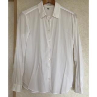 ユニクロ(UNIQLO)のユニクロ ブラウス 白シャツ(シャツ/ブラウス(長袖/七分))