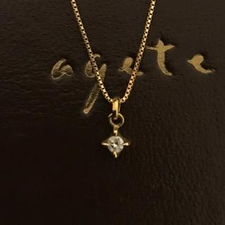 agete - agete K18 ダイヤ ネックレス 一粒ダイヤネックレス アガット