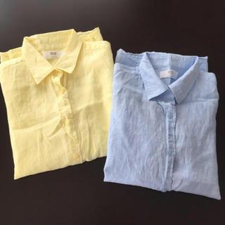 ユニクロ(UNIQLO)のユニクロ リネンシャツ Sサイズ(シャツ/ブラウス(長袖/七分))