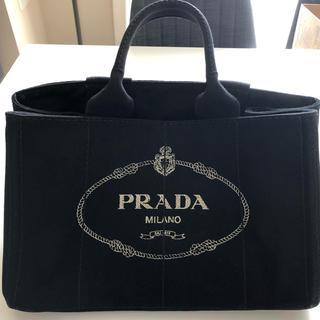 プラダ(PRADA)のプラダ PRADA カナパ トートバッグ キャンバス ブラック(トートバッグ)