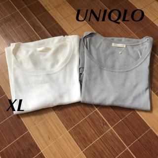ユニクロ(UNIQLO)のUNIQLO クルーネックサマーニット XL(ニット/セーター)