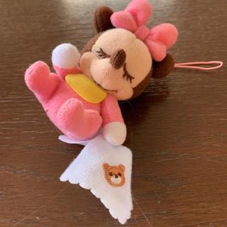 ミニーマウス - ★ ミニー ぬいぐるみストラップ