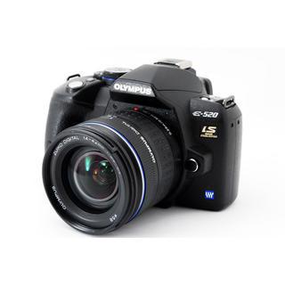 オリンパス(OLYMPUS)の★CFカード付きですぐに使える★オリンパス E-520 レンズキット(デジタル一眼)