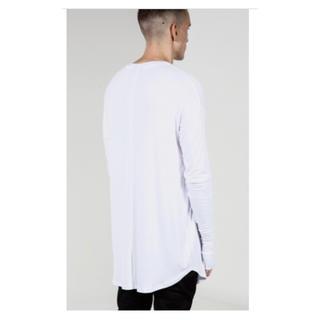 メンズ  シンプルロングTシャツ  おやゆびカフス付き(Tシャツ/カットソー(七分/長袖))