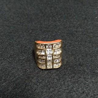 アヴァランチ(AVALANCHE)の10K イエローゴールド  リング 指輪 ジルコニア 送料無料(リング(指輪))