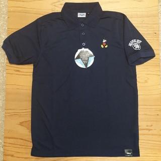 ディズニー(Disney)の新品タグ付き 紺 ミッキーマウス ポロシャツ(ポロシャツ)