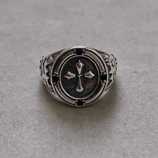 シルバー925 クロスデザインカレッジリング シルバーリング キリスト(リング(指輪))
